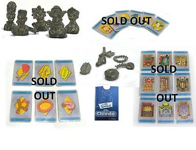 Simpson Cluedo Board Game Various Replacement Pieces Parts and Cards