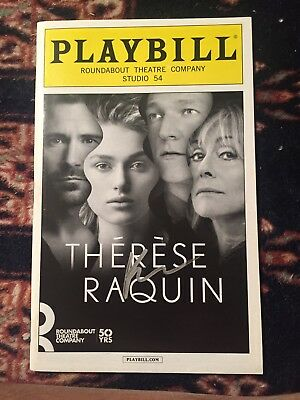 Keira Knightley Signed Therese Raquin Playbill