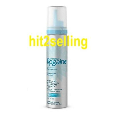 Women's Rogaine Foam Exp 08/19 Unscented Hair Regrowth 2 Month Supply 1 Bottle