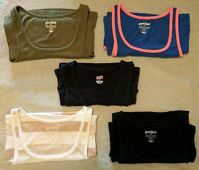 5 Lot S Tank Tops. 4 Old Navy Perfect Fit/1 Soffe See pics/description for flaws