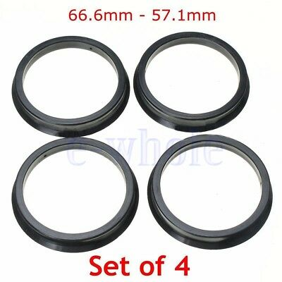 4 Hub Centric Rings 66.6mm to 57.1mm | Hubcentric Ring 66.6-57.1 fit for AUDI HM