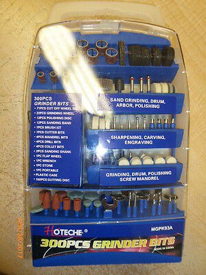 300 Pc Rotary Tool Bits Accessory Kit For Dremel & Rotary Type Power Tools