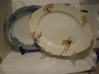 Antique 2(Two) Serving Dishes.burleigh Ware X 1 C.1930.no Mark X 1 C.1900