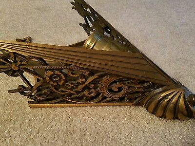 Antique ART DECO BRONZE SCONCE BACK Midwest Chandelier w/o Vintage Slip Shade