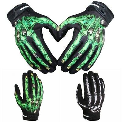 Men Cycling Motorcycle Racing Skeleton Skull Bone Mechanic Sports Warm Gloves US