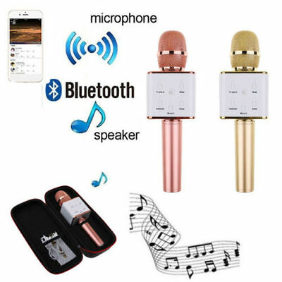 Q7 Q9 Wireless Bluetooth Karaoke Microphone Speaker Handheld With USB KTV Player