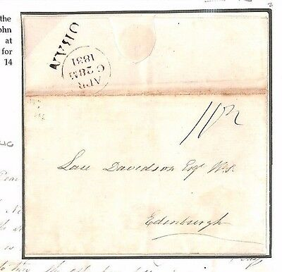 AP1831.2 GB SCOTS ISLANDS CONVICT TRANSPORT *Easdale Island* OBAN Letter Edinr