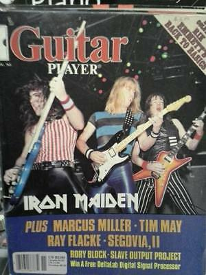 Guitar Player Magazine November 1983 Iron Maiden on the cover