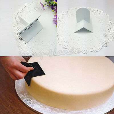 1 Pc Cake Smoother Polisher Tools Cutter Fondant Sugarcraft Icing Mold Decor
