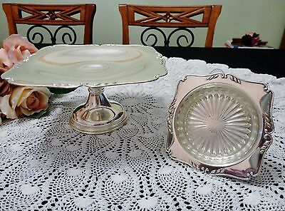 Two Vintage Silver Plate High Tea/Afternoon Tea Items