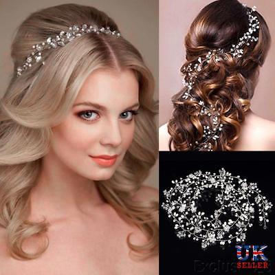 Fashion Crystals Bridal Wedding Headband, Hair Vine and Headpiece (39.37 Inches)