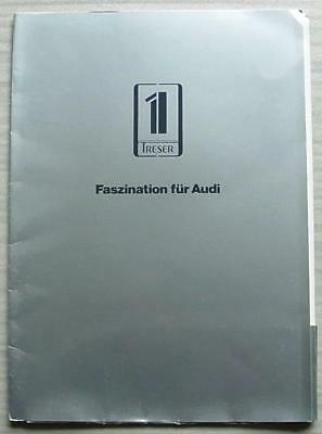 TRESER AUDI Car Press Kit Information Media Pack Brochure Sept 1987