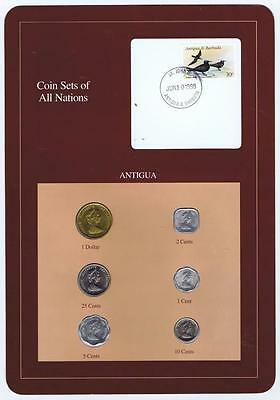 Antigua Eastern Caribbean 6 Mint set Mixed years BU Coin Sets of All Nations