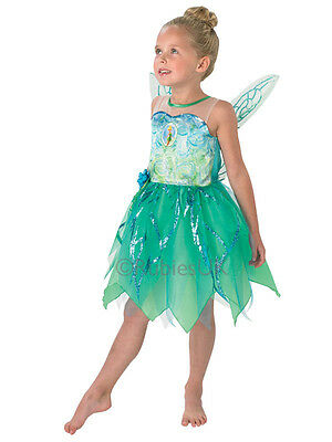 Child Disney Fairies Pixie Tinkerbell Outfit Fancy Dress Costume Book Week