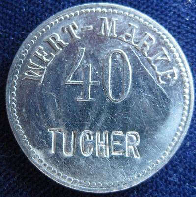 German  nickel  token, Wert-Marke 50 Tucher #3