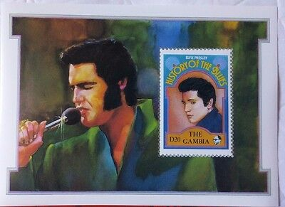 """The Gambia History Of The Blues Stamp """"Elvis Presley"""", MNH"""