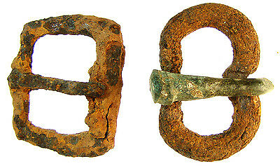 Two Byzantine Iron Buckles, one with Bronze Tongue, from Israel
