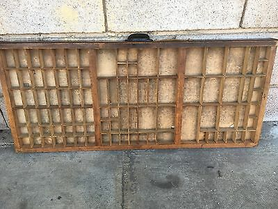 Vintage Print tray printers wooden type case drawer miniatures display 25