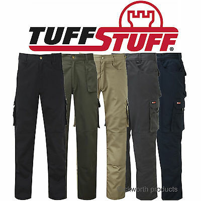 TuffStuff PRO WORK Trouser PREMIUM Combat Cargo Style With Knee Pad Pockets 711