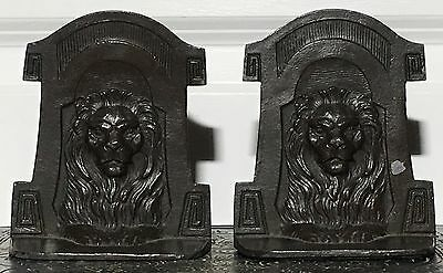 Circa 1920's Art Deco Lion High Quality Bookends Book rack Book holders