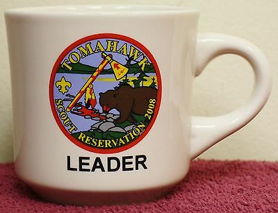 BSA Tomahawk Boy Scout Reservation LEADER Coffee Tea Mug Wisconsin Scout Camp
