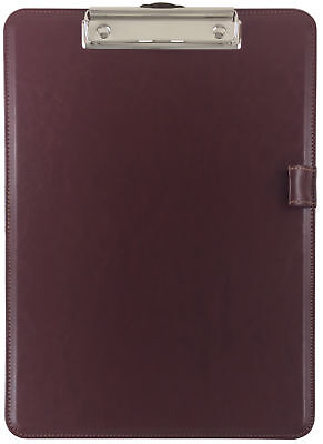 Trade Quest Clipboard Faux Leather Single (Tuscan Red)