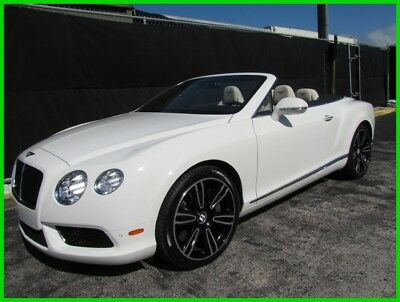 2013 Bentley Continental GT V8 CONVERTIBLE GTC CONVERTIBLE BEAUTIFUL GLACIER WHITE OVER LINEN PRICED FOR QUICK SALE