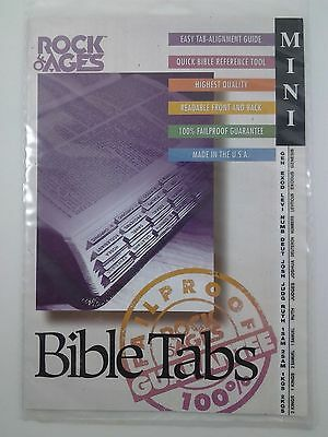 """Rock of Ages Bible Tabs : Mini 1/2"""" : New : Bob Siemon Designs : Guide included"""