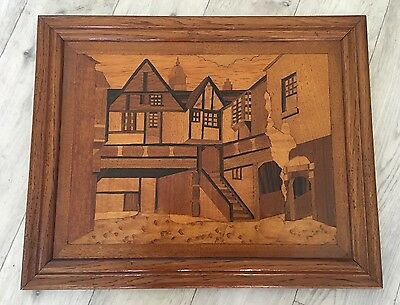 Vintage Inlaid Wood marquetry Picture