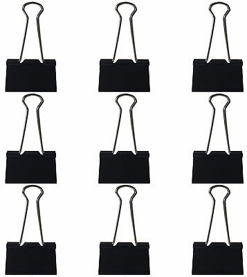 Clipco Binder Clips Large 1.5-Inch Black (48-Pack)