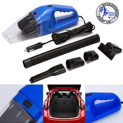 12V 120W Mini Portable Car Truck VAN Vacuum Cleaner Hoover Dust Collector Blue