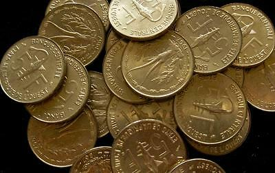 French West Africa 5 Francs 1967 BU lot of 25