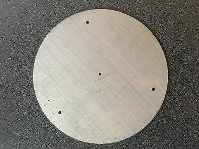 "**Discount/Flawed**1/8"" Steel Plate, Disc Shaped, 8.00"" Diameter w/4 Small Holes"