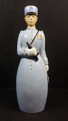 657. Robj Paris - Liqueur bottle lieutenant  - French art deco ceramic
