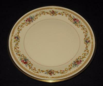 """Lenox China, QUEEN'S GARDEN, Roses, Floral & Gold Scrolls, Bread Plate, 6 3/8"""""""
