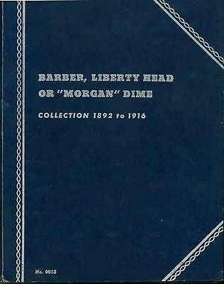Nearly Complete Set of 60 Different Barber Silver Dimes In 1940 Whitman Folder