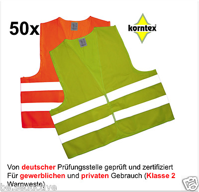 50 Reflective vest yellow Break-down crew Safety ISO20471:2013 Car