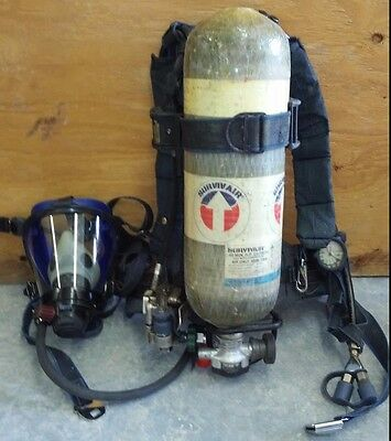 Survivair Sperian Panther Nfpa 2002 Scba W/hud 2006 Carbon Cylinder And Mask