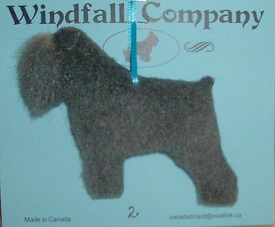 Grey Natural Ear Bouvier des Flandres Dog Plush Christmas Ornament #2 by WC