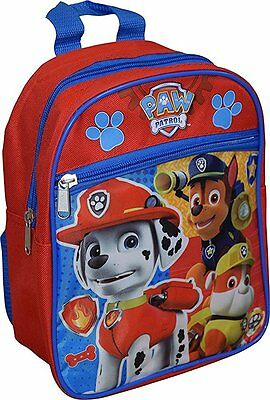 "NEW Paw Patrol Boys 10""- 11 "" Mini Backpack School bag Red"