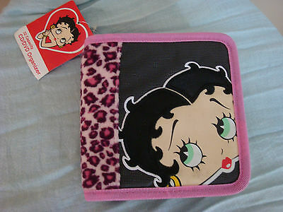 Betty Boop CD/DVD Case Organizer 32 Capacity - Leopard Print with Face Design