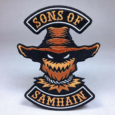 Stingy Jack Hallows Eve Halloween Biker Patch Pumpkin  Witch Ghost Haunted