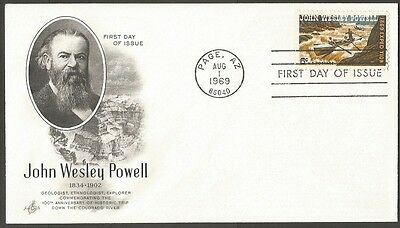 Us Fdc 1969 John Wesley Powell 6C Stamp Art Craft First Day Of Issue Cover