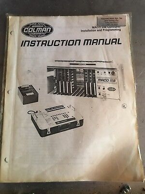Barber Coleman Maco 3B Instruction Manual