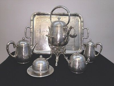 Christofle Exellent Tea Set 6 Pieces Japanese Style Art Noveaux