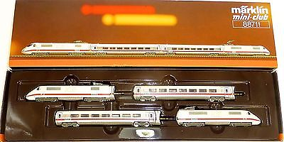 Ice Amtrak 4 Pieces Railcar Märklin 88711 Mini Club Z Gauge 1:220