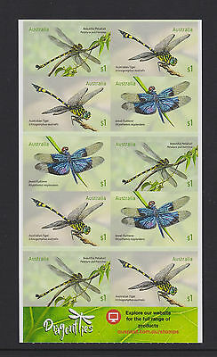 Australia 2017 : Dragonflies - Booklet of 10 x $1 Self-adhesive Stamps,