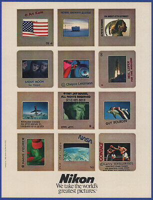 Vintage 1982 NIKON World's Greatest Pictures Camera Photography Print Ad 80's