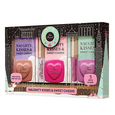 TOO FACED Naughty Kisses & Sweet Cheeks: 3 x LIP INJECTION + 3 x BLUSH * HOT SET