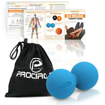 PROCIRCLE Peanut Massage Ball Double Lacrosse Ball Trigger Point Pain Release